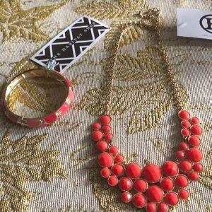 Beautiful fashion necklace and bracelet